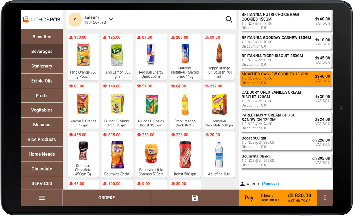 android pos dashboard
