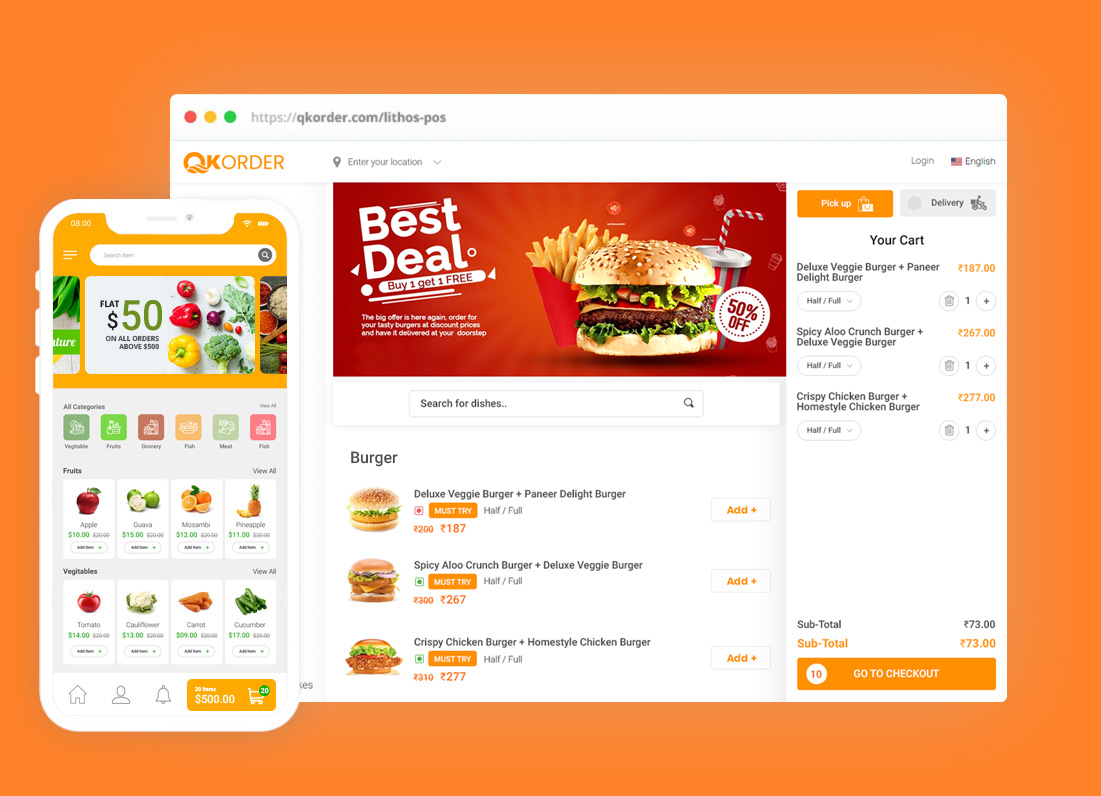 lithos pos online ordering integration